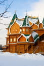 Wooden palace in Kolomenskoe, Moscow Stock Photos