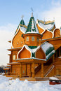 Wooden palace in Kolomenskoe in Moscow Stock Images