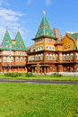 The wooden palace kolomenskoye estate of tsar aleksey mikhailovitch moscow russia Royalty Free Stock Photo