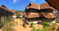 Wooden palace padmanabhapuram of the maharaja in trivandrum Royalty Free Stock Images