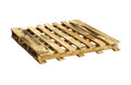 Wooden pallet with clipping path isolated on white background Stock Photos