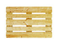 Wooden pallet high resolution rendering Royalty Free Stock Photos