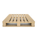 Wooden pallet isolated render on a white background Royalty Free Stock Image