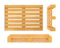 Wooden pallet isolated on white background d rendered illustration clipping path included Stock Images