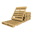 Wooden pallet isolated on white background realistic wood Stock Photos