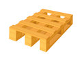 Wooden pallet in perspective, front and side view with dimensions isolated on a white background. Concept vector