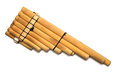 Wooden pan flute Royalty Free Stock Photo