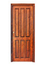 Wooden panel door of a room Royalty Free Stock Photo