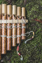 Wooden panflute Royalty Free Stock Photo