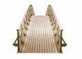 wooden Park foot bridge isolated on white background Royalty Free Stock Photo