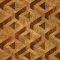 Wooden parquet boxes stacked for seamless background. Royalty Free Stock Photo