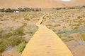 Wooden path in desert Stock Photography