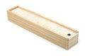 Wooden pencil box Royalty Free Stock Photo