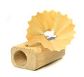 A wooden pencil sharpener Royalty Free Stock Photography