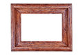 Wooden photo frame natural wood with grain Stock Photography