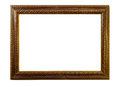 Wooden picture frame. Isolated over white Royalty Free Stock Photo
