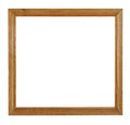 Wooden picture frame isolated on white background with clipping path Stock Photos
