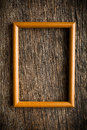 Wooden picture frame on old wooden background Royalty Free Stock Images