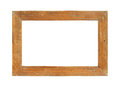 Wooden picture frame rustic isolated on white background Stock Photography
