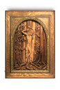 Wooden picture Saint Sebastian Royalty Free Stock Photography