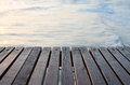 Wooden pier over the sea Royalty Free Stock Photo