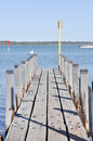 Wooden Pier Perspective Royalty Free Stock Photo