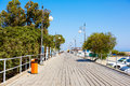 Wooden pier for yachts in Larnaca port