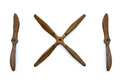 Wooden Plane Propellers Isolat...