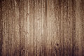 Wooden plank background, brown vertical boards, wood texture, old table (floor, wall), vintage Royalty Free Stock Photo