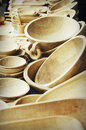 Wooden plates handmade presented at a romanian popular art fair Royalty Free Stock Photos