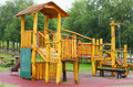 Wooden playground Stock Images