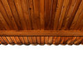 Wooden porch ceiling Stock Photography
