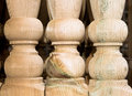 Wooden posts close up of baluster Royalty Free Stock Photo