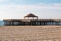 Wooden Public Viewing Pier at Buckroe Beach in Hampton, VA