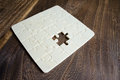 Wooden Puzzle with missing piece Royalty Free Stock Image