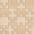 Wooden puzzles assembled for seamless background white oak wood texture Stock Images