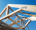 Wooden rafters Royalty Free Stock Photo