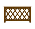 Wooden railing with pattern isolated on white d illustration Royalty Free Stock Image