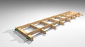 Wooden rails assembled together using sticks Stock Images