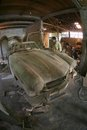Wooden replica craftsmen are making of a sports car in boyolali central java indonesia Stock Images