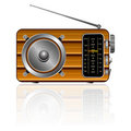 Wooden retro radio Royalty Free Stock Images