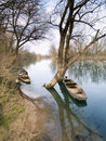 Wooden river boats Stock Photography