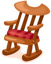 Wooden rocking chair Royalty Free Stock Photos
