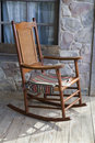 Wooden Rocking Chair Stock Image