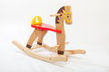 Wooden rocking horse children toy Royalty Free Stock Photos