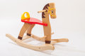 Wooden rocking horse. Royalty Free Stock Photo