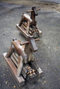 Wooden rocking horses Royalty Free Stock Photography