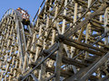Wooden Roller Coaster Stock Photos