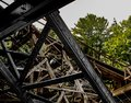 Wooden roller coaster lumber Royalty Free Stock Photo