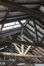 Wooden roof beams Royalty Free Stock Photo